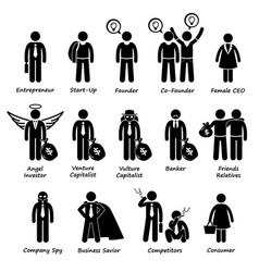 Business entrepreneur investors and competitors vector