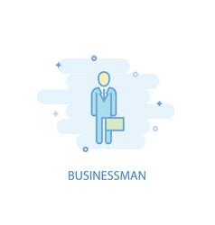 businessman line concept simple line icon vector image