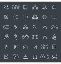 Businesspeople and business signs icons vector