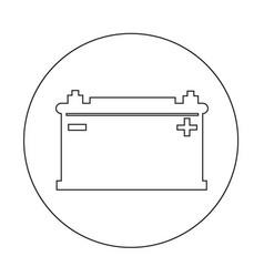 Car battery icon design vector
