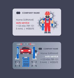 Car service business card design vector