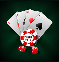 Casino gambling poker background design poker vector