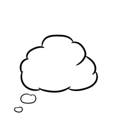 Cloud thought white of vector image