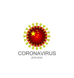 Coronavirus icon 2019-ncov novel isolated vector