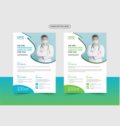 Corporate healthcare and medical flyer template vector