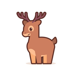 cute little deer cartoon comic character vector image