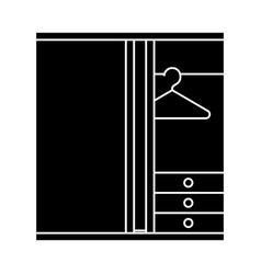 dressing room icon sign o vector image