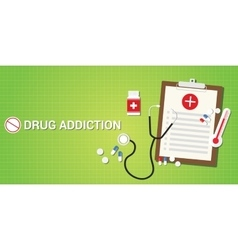 Drug addication concept with pills and medicine vector
