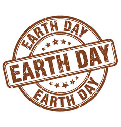 Earth day stamp vector