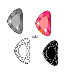 Fancy gem cut vector