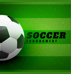 football on green grass design background vector image