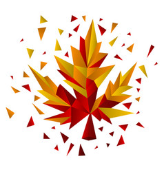 geometric maple leaf design vector image