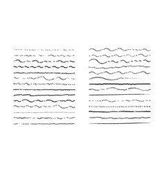 hand drawn waving doodle lines vintage underline vector image