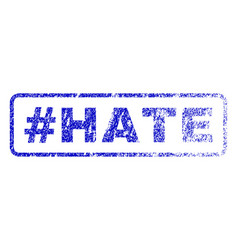 Hashtag hate rubber stamp vector