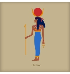 Hathor goddess of love icon flat style vector