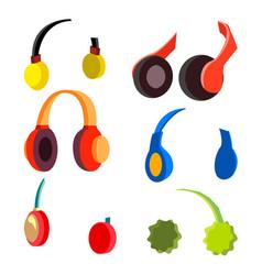 headphones set modern wireless audio vector image