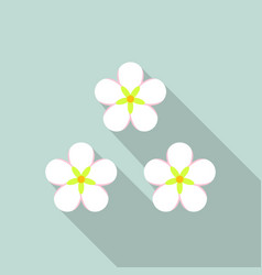 honey flower icon flat style vector image