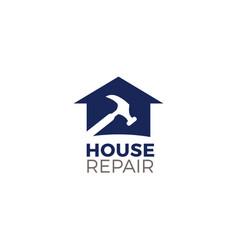 house repair logo symbol icon vector image