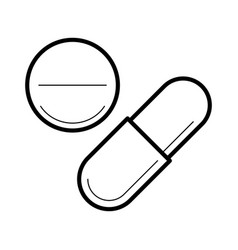 icon with tablet and capsule vector image