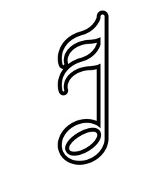 Isolated sixteenth note musical note vector