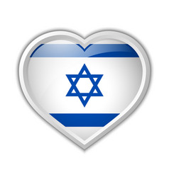 Israel heart vector