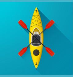 Kayak on blue background vector