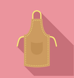Leather apron icon flat style vector