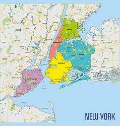 Map new york vector