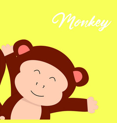 Monkey t-shirt graphics cute cartoon characters vector