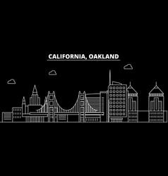oakland silhouette skyline usa - oakland vector image