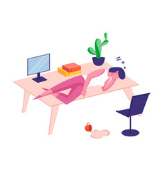 overwork burnout tiredness and fatigue concept vector image