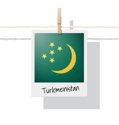Photo of turkmenistan flag vector