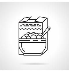 Porridge black line icon vector image