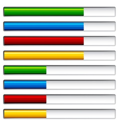 Progress bars vector