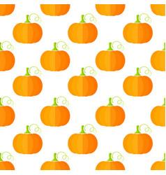 pumpkin decoration vegetable seamless pleattern vector image