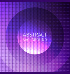 Purple abstract of many squares with circles vector