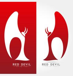 Red devil - logo concept vector
