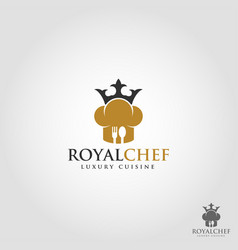 royal chef is a stylish professional expert chef vector image