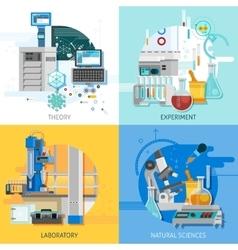 Science Equipment 2x2 Design Concept vector