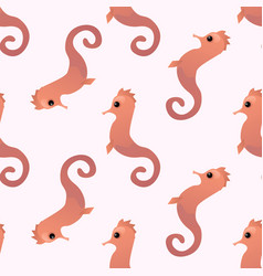 seahorse seamless pattern vector image
