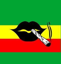 Smoke marijuana vector