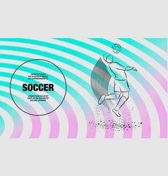 Soccer player hit ball head outline vector