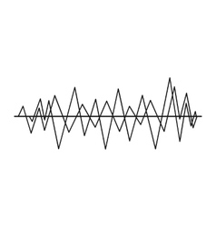 Sound wave icon simple style vector