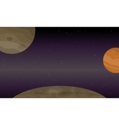 Space planets collection stock vector