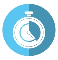 Stopwatch fast delivery symbol shadow vector