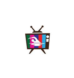 swimming athlete in pool triathlon for logo vector image