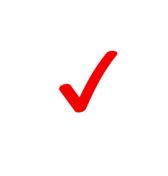 Tick icon symbol marker red checkmark vector