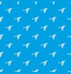 tree snake pattern seamless blue vector image