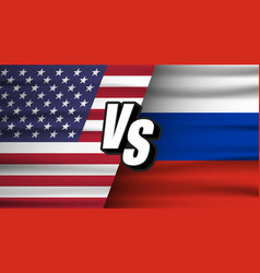 usa vs russia versus usa vs russia concept the vector image