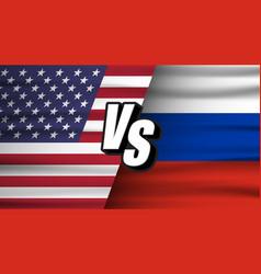 usa vs russia versus vs russia concept vector image
